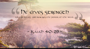 """""""He gives strength to the weary and increases the power of the weak"""". ~ Isaiah 40:29 ~"""