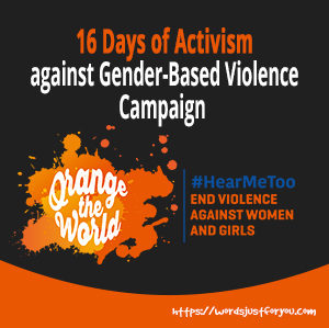 Orange the World - 16 days of Activism