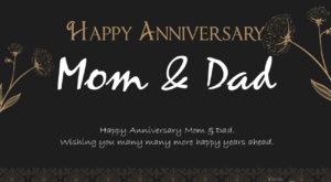 Happy Anniversary Mom & Dad