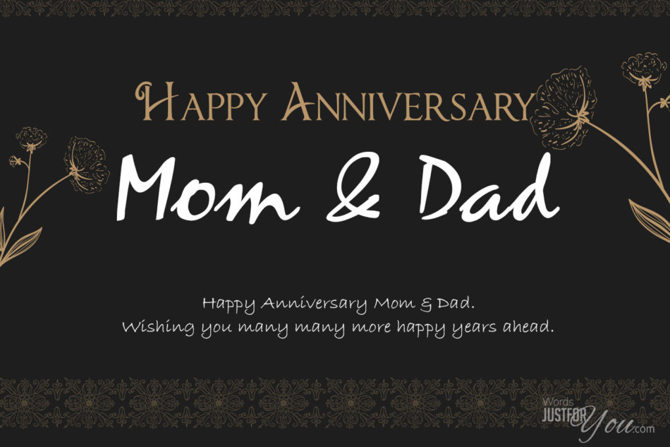 Happy Anniversary Mom Dad Words Just For You Free Downloads