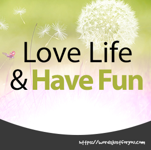 Love Life and Have Fun