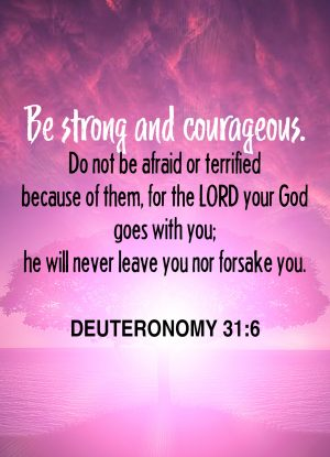 Bible Verse - Deuteronomy 31:6