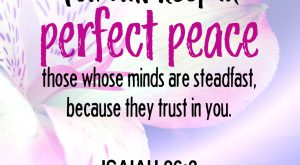 Bible Verse - Isaiah 26:3