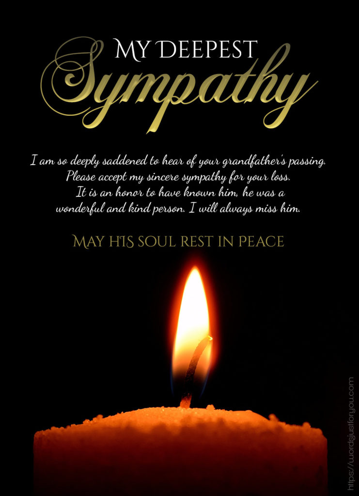My Deepest Sympathy Messages 4
