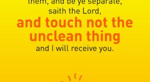 Daily Messenger SCRIPTURES 2 Corinthians 6:17