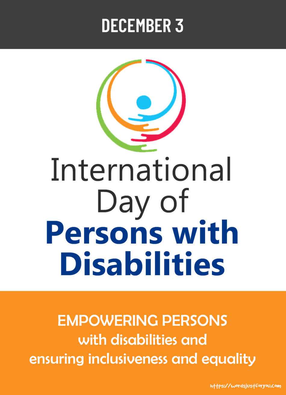 International Day of Persons with Disabilities, 3 December