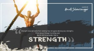 Quote by Arnold Schwarzenegger on Strength - Free for Sharing