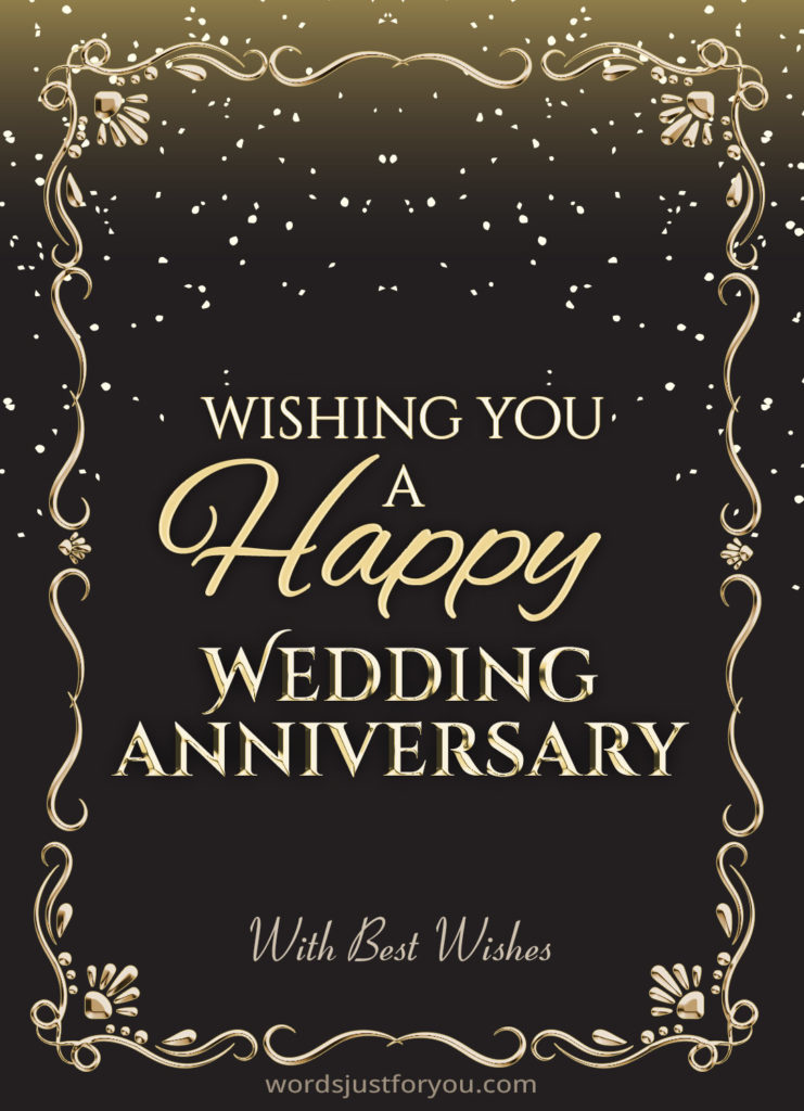 Happy Wedding Anniversary  CARD