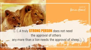 Vernon Howard's Quote on Strong Person