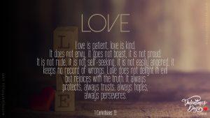 Love - 1 Corinthians 13