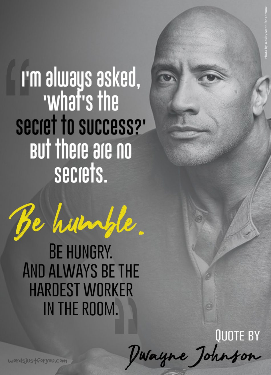 Famous Quote on Success by Dwayne Johnson