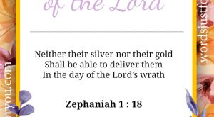 Bible Verse - Zephaniah 1 : 18