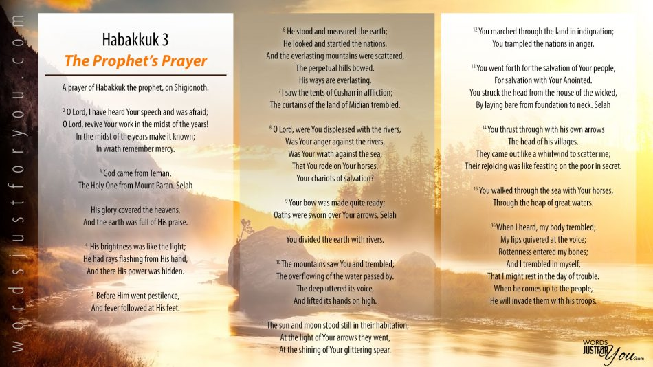 Bible Verse: Habakkuk 3 - The Prophet's Prayer