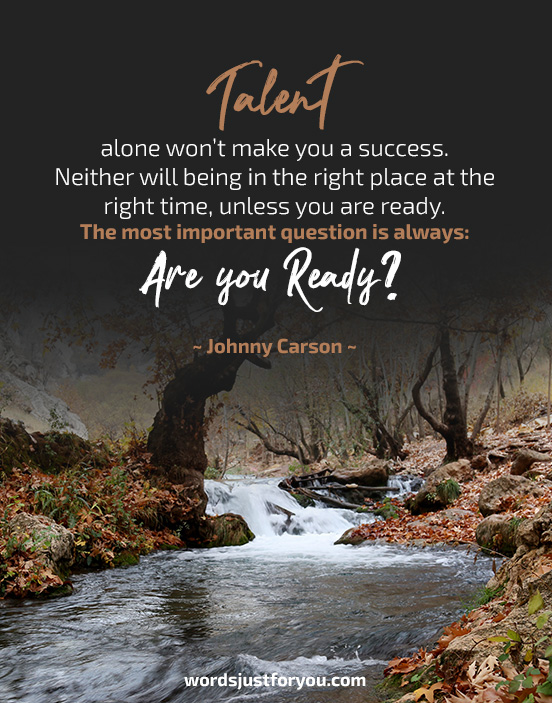 Are you Ready for Success? Quote by Johnny Carson