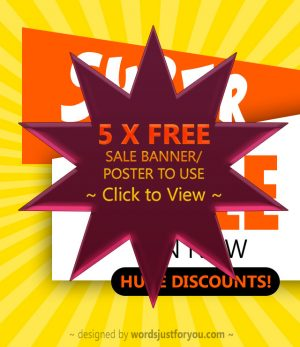 Free Sale Banners / Poster