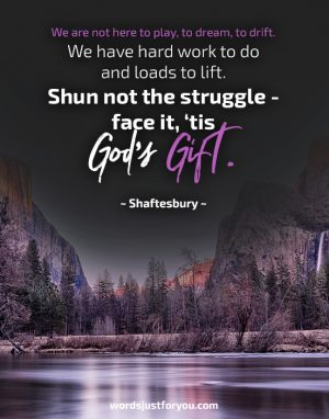 """God's Gift"" – Quote by Shaftesbury"