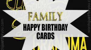 Happy Birthday Card - Family