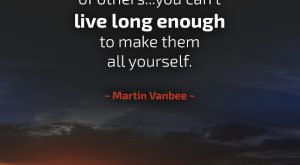 Learn from the Mistakes of Others - Quote by Martin Vanbee