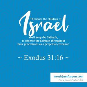 Bible Verse: ~ Exodus 31:16 ~