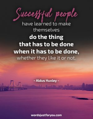 Successful People - Quote by Aldus Huxley
