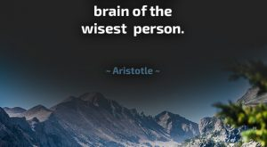 Wisdom Quote by Aristotle