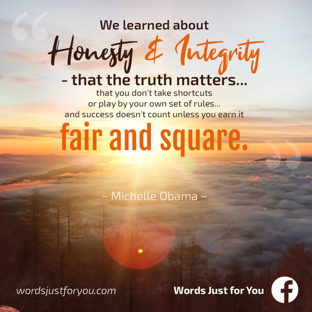 Quote by Michelle Obama on Honesty and Integrity_02230719