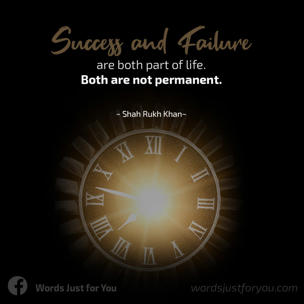 Life Quote on Success and Failure by Shah Rukh Khan 05020819