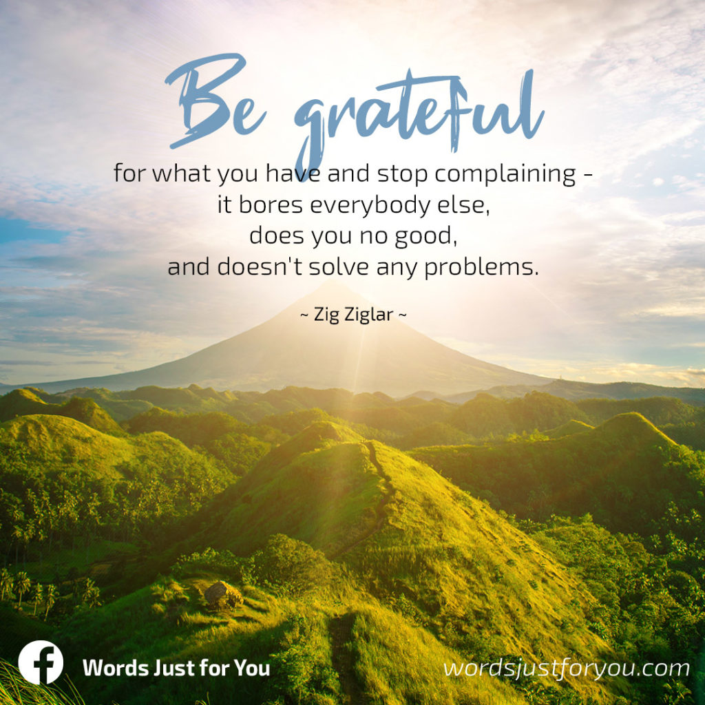 Wisdom Quote on Being Grateful by Zig Ziglar