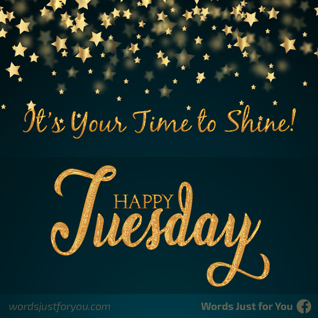 Happy Tuesday - It's Your Time to Shine