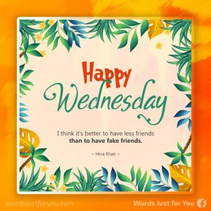 Happy Wednesday with Quote