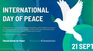 International Day of Peace 21 September