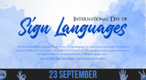 International Day of Sign Languages - 23 September