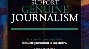 Support Genuine Journalism