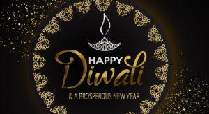Elegant Happy Diwali Greetings Card