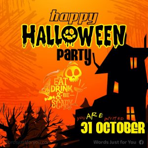Happy Halloween Party Card