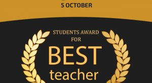 Happy World Teacher's Day - Students Award for Best Teacher Image - 5 October