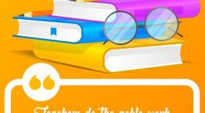 Creative World Teachers' Day Poster